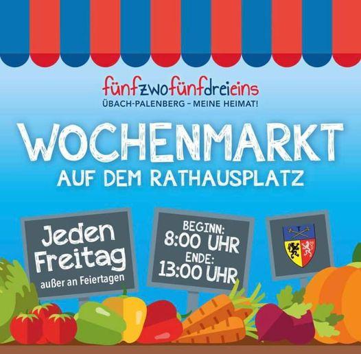 Wochenmarkt in Übach – wieder da!